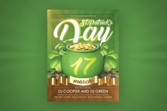Free St. Patrick's Day Flyer in PSD