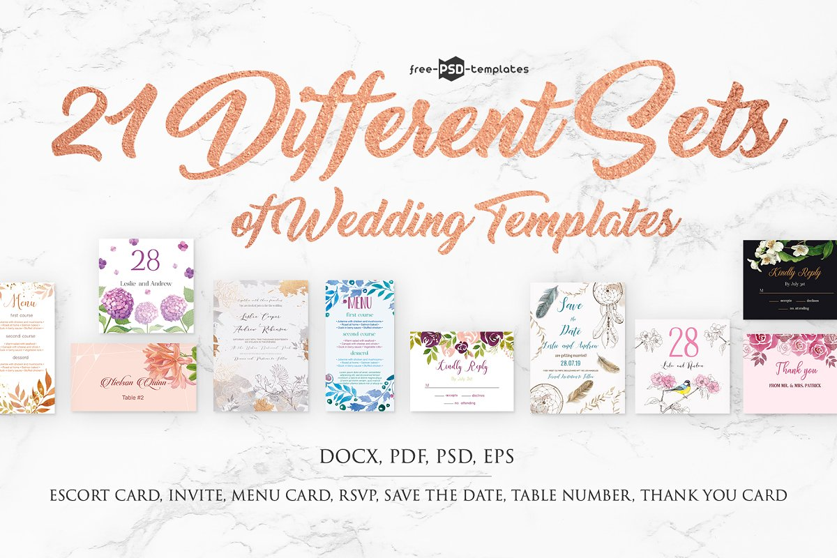 75+ Free Must Have Wedding Templates for designers & Premium