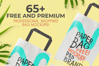 65+ Free Professional Shopping Bag Mockups and Premium Version!