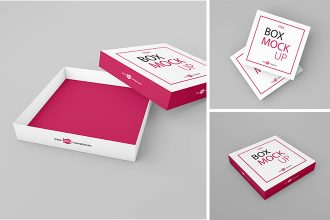 Free Box Mockup Set