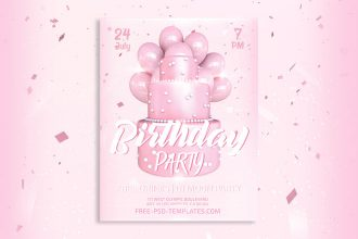 Free Birthday Party Flyer in PSD