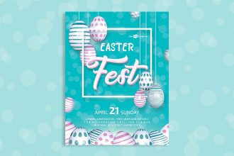 Free Easter Fest Flyer in PSD