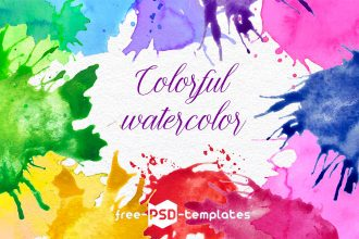 Free Colorful Watercolor Stains