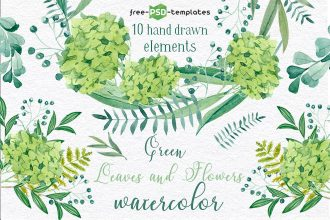 Free Green Leaves Watercolor
