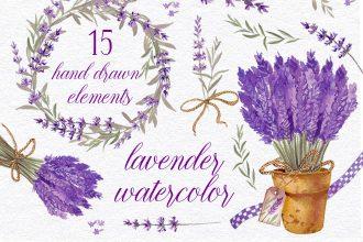 Free Lavender Watercolor