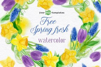 Free Spring Fresh Watercolor