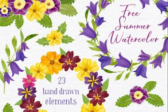 Free Summer Watercolor