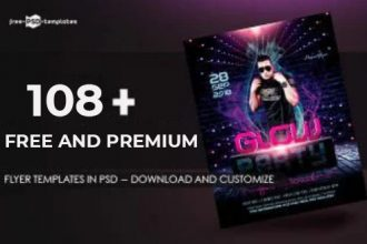 108+ Free and Premium Flyer Templates in PSD – Download and Customize!