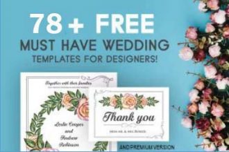 78+ MUST HAVE FREE WEDDING TEMPLATES FOR DESIGNERS & PREMIUM VERSION!