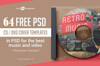 64 FREE CD/ DVD Cover Templates in PSD for the best music and video + Premium Version!