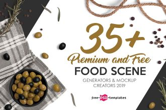 35+ Premium and Free Food Scene Generators & Mockup Creators 2019