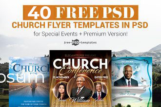 40+ Free PSD Church Flyer Templates in PSD for Special Events & Premium Version!