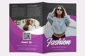 Free Fashion Bi-Fold Brochure in PSD