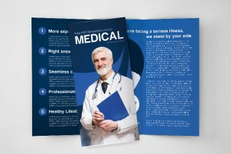 Free Medical Tri-Fold Brochure in PSD