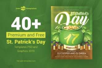 40+ Premium & Free St. Patrick's Day Templates PSD and Graphics 2019