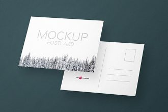 2 Free Postcard Invitation Mock-ups in PSD