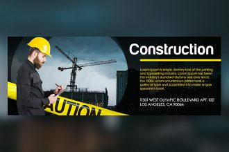 Free Construction Facebook Cover