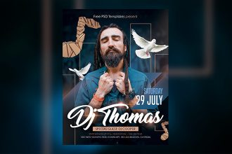 Free DJ Thomas Flyer in PSD