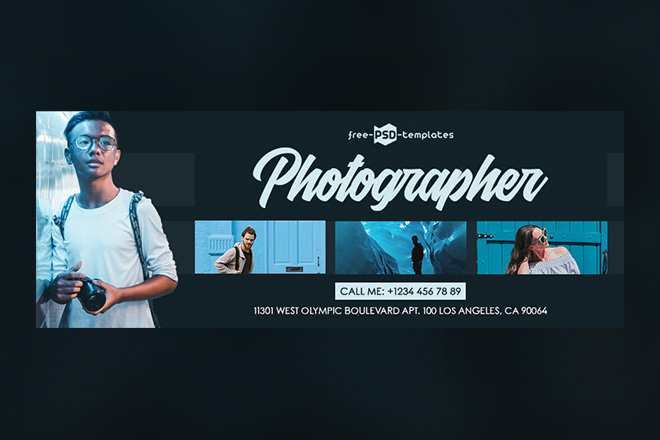 Free Photographer Facebook Cover Free Psd Templates