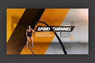 Free Sport YouTube Channel Banner