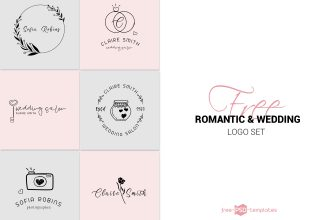 Free Vector Logo Set Romantic & Wedding