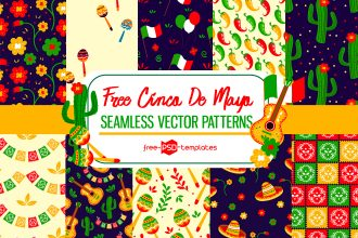 Free Vector Cinco de Mayo Patterns