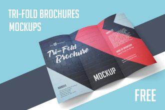 Free Tri-Fold Brochures Mockups