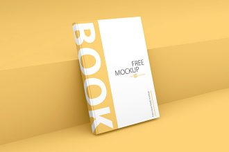 Free Book Cover Mockup (PSD)