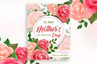 Free Mother's Day Flyer in PSD