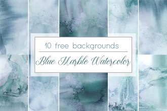 Free Blue Marble Watercolor