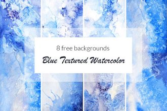 Free Blue Textured Watercolor