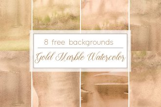 Free Gold Marble Watercolor