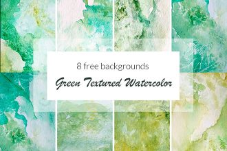 Free Green Textured Watercolor
