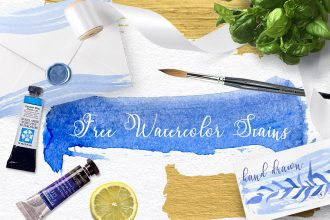 Free Watercolor Blue Spots
