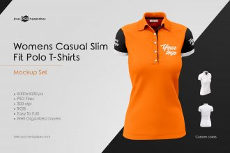 Womens Polo T-Shirts MockUp Set