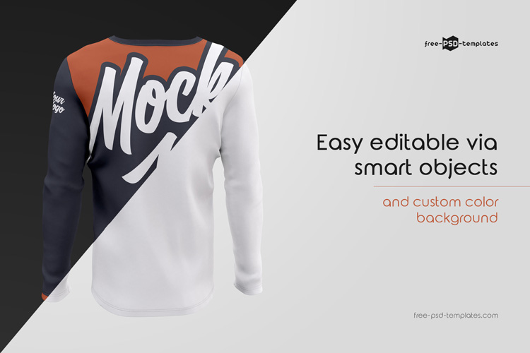Mens Long Sleeve T Shirts Mockup Set Free Psd Templates