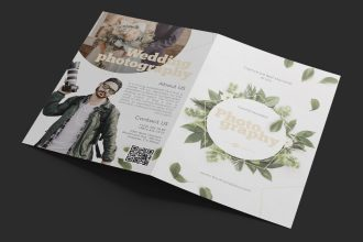 Free Photography Bi-Fold Brochure in PSD