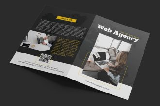 Free Web Agency Bi-Fold Brochure in PSD