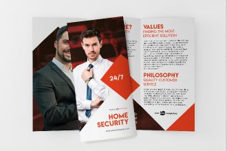 Free Home Security Tri-Fold Brochure in PSD