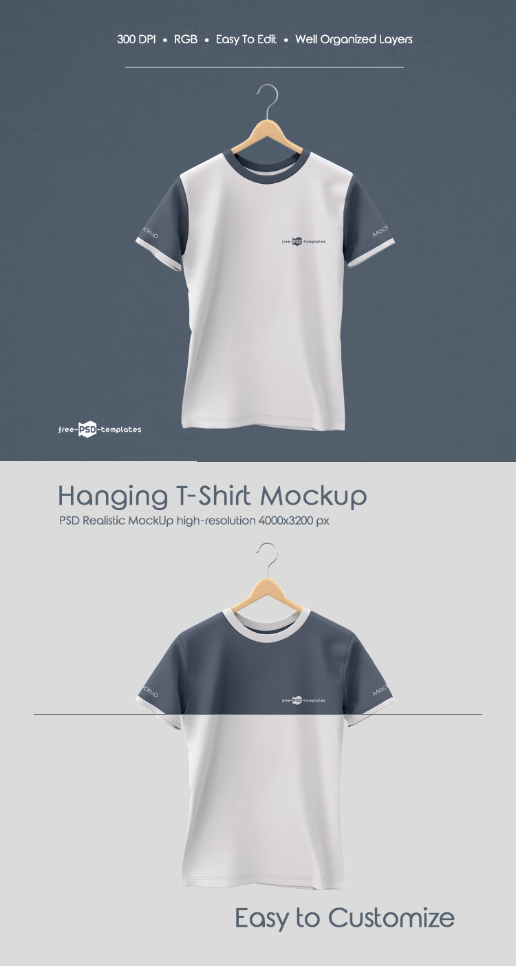 Free Hanging T Shirt Mock Up In Psd Free Psd Templates