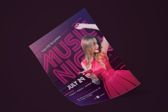 Free Music Night Flyer in PSD