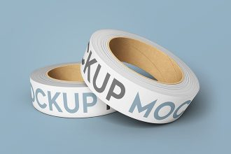 2 Free Duct Tape Mock-ups in PSD