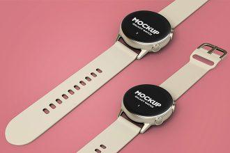 2 Free Galaxy Watch Mock-ups in PSD