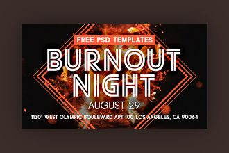 Free Burnout Night Facebook Event Page