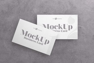 Free Business Card V04 Mock-up in PSD