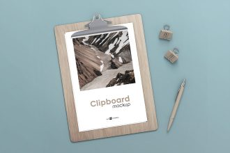 Free Clipboard Mock-up in PSD