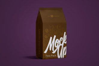 Free Flow Pack Mock-up in PSD