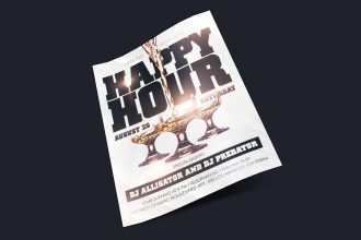 Free Happy Hour Flyer in PSD