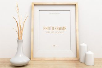 Free Photo Frame Mockup in PSD