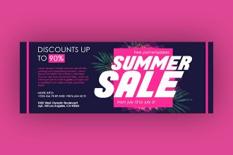 Free Summer Sale Facebook Cover